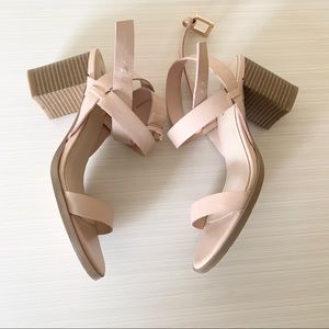 Forever 21 Strappy Block Stacked Heel Sandals
